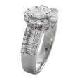 1.33ct Diamond 18k White Gold Ring