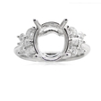 .92ct Diamond 18k White Gold Engagement Ring Setting