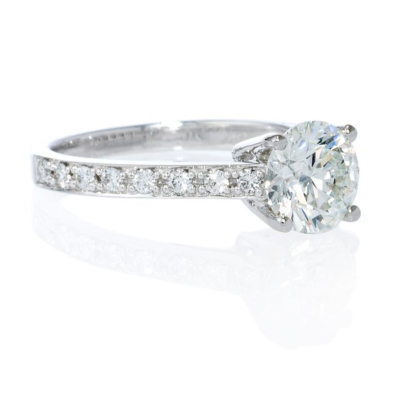 17ct Diamond Platinum Engagement Ring Setting