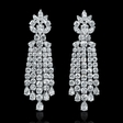 14.01ct Diamond 18k White Gold Chandelier Earrings