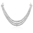 31.73ct Diamond 18k White Gold Necklace