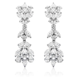7.53ct Diamond 18k White Gold Chandelier Earrings