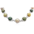 9.70ct Diamond and Pearl 18k White Gold Necklace