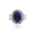1.90ct Diamond and Blue Sapphire 18k White Gold Ring