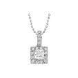 Natalie K Diamond Antique Style 18k White Gold Pendant