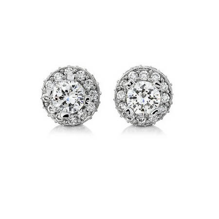 Natalie K Antique Style 18k White Gold Earring Jackets