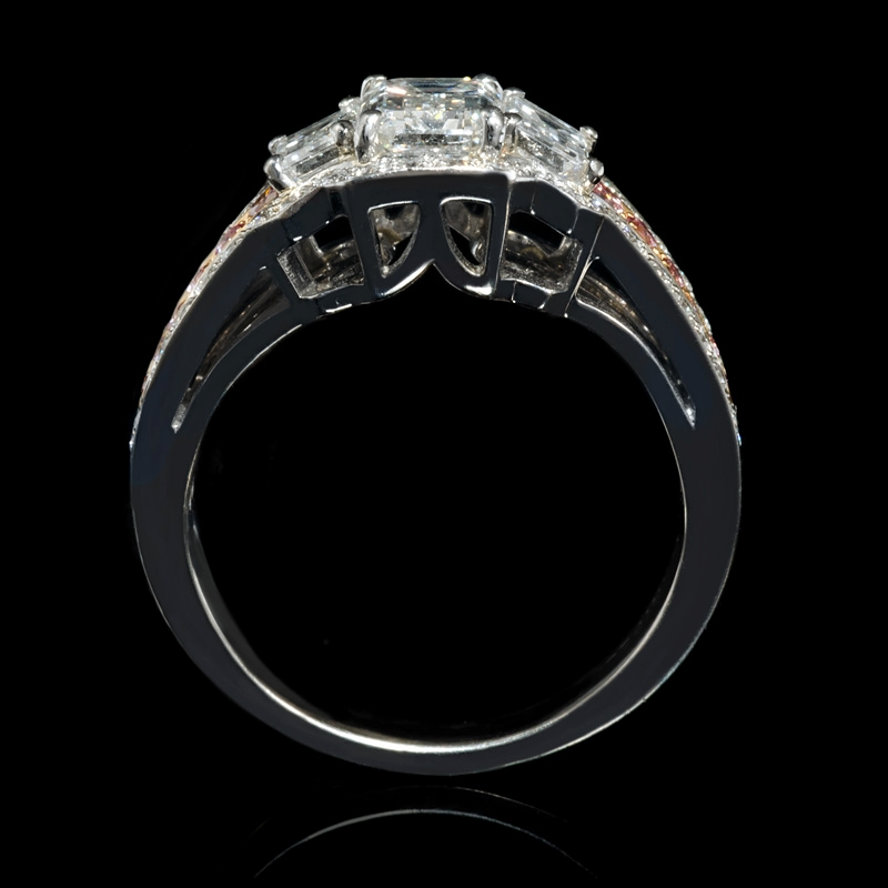 2 31ct charles krypell platinum and 18k pink gold