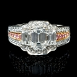 2.31ct Charles Krypell Diamond Platinum and 18k Pink Gold Engagement Ring