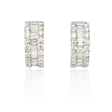 1.40ct Diamond 18k White Gold Huggie Earrings