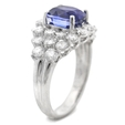 1.88ct Diamond and Blue Sapphire 18k White Gold Ring