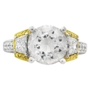 Simon G Diamond Antique Style 18k Two Tone Gold Engagement Ring Setting