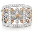 .80ct Diamond Antique Style 18k Two Tone Gold Ring