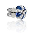 1.02ct Diamond and Blue Sapphire 18k White Gold Earrings