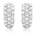 1.70ct Diamond 18k White Gold Huggie Earrings