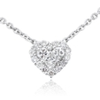 .52ct Diamond 18k White Gold Heart Pendant