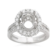 .77ct Diamond Platinum Halo Engagement Ring Setting