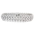 20.25ct Diamond 18k White Gold Bracelet