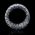 8.90ct Diamond 18k White Gold Eternity Wedding Band Ring