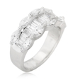 2.07ct Diamond 18k White Gold Wedding Band Ring