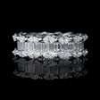 3.71ct Diamond Marquise and Baguette Cut Platinum Eternity Wedding Band Ring