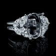 1.14ct Diamond 18k White Gold Engagement Ring Setting