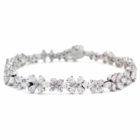 Diamond 18k White Gold Bracelet