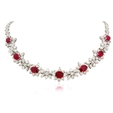 18.59ct Diamond and Ruby Platinum Necklace