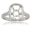 .70ct Diamond Platinum Halo Engagement Ring Setting