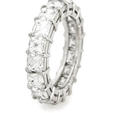 5.56ct Diamond Platinum Eternity Wedding Band Ring
