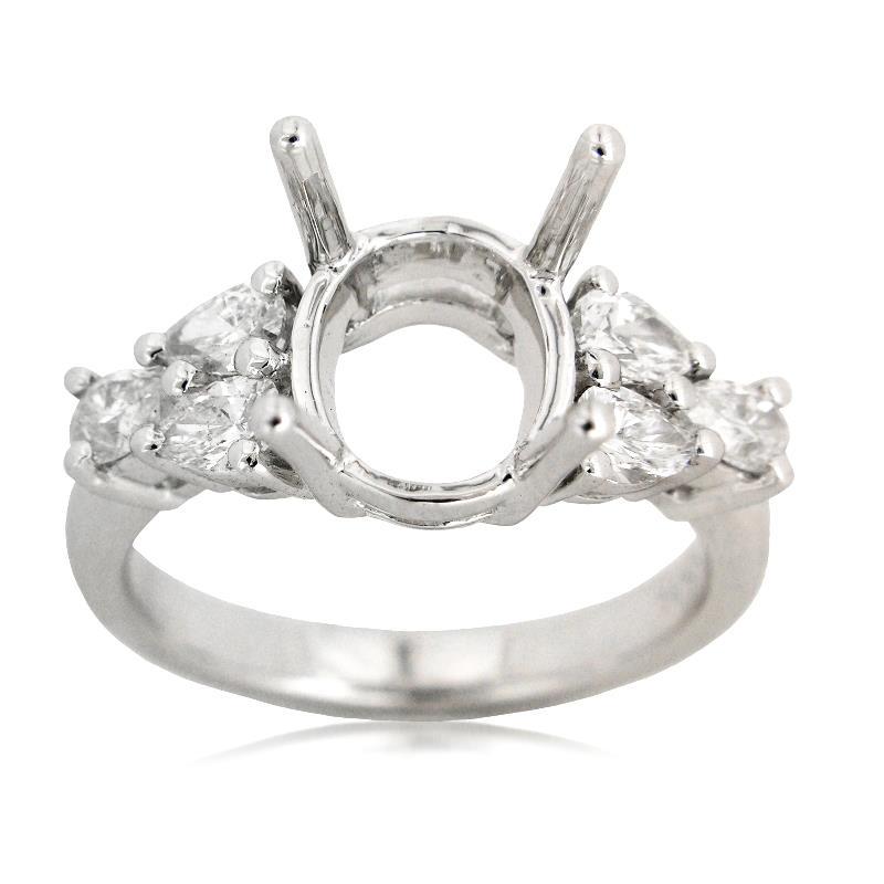 90ct Diamond Platinum Engagement Ring Setting