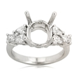 .90ct Diamond Platinum Engagement Ring Setting
