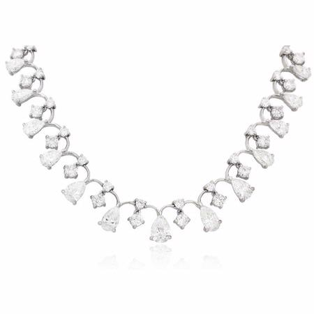 16.05ct Diamond Platinum Necklace