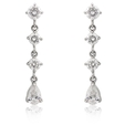 2.19ct Diamond 18k White Gold Dangle Earrings