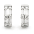 1.41ct Diamond 18k White Gold Huggie Earrings