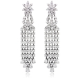 11.84ct Diamond 18k White Gold Chandelier Earrings