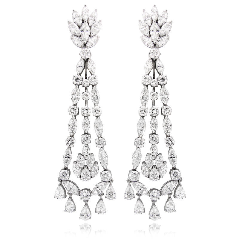 Ct diamond 18k white gold chandelier earrings 1353ct diamond 18k white gold chandelier earrings aloadofball Gallery