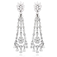 13.53ct Diamond 18k White Gold Chandelier Earrings