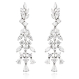 7.20ct Diamond 18k White Gold Chandelier Earrings