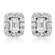 .72ct Diamond 18k White gold Cluster Earrings