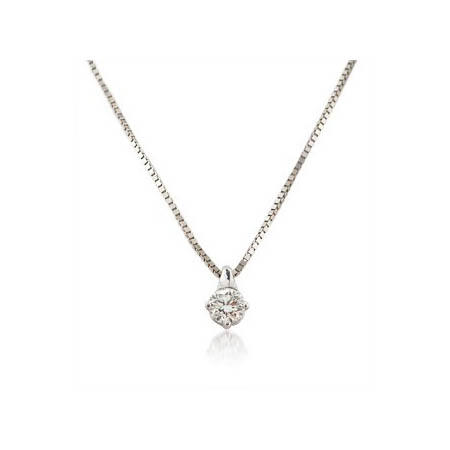 Diamond solitaire pendants solitaire pendant necklaces leo pizzo diamond solitaire 18k white gold pendant necklace aloadofball Gallery