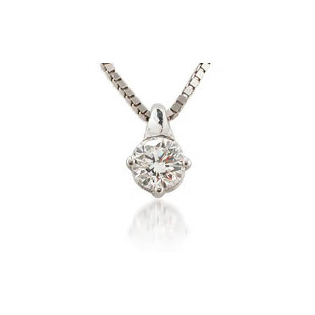 2c6797a74780 .30ct Leo Pizzo Diamond Solitaire 18k White Gold Pendant Necklace