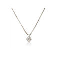 .30ct Leo Pizzo Diamond Solitaire 18k White Gold Pendant Necklace