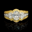 2.59ct Charles Krypell GIA Certified Diamond Platinum & 18k Yellow Gold Engagement Ring