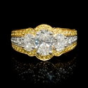 Charles Krypell GIA Certified Diamond Platinum & 18k Yellow Gold Engagement Ring