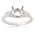 .41ct Diamond Platinum Engagement Ring Setting