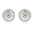.33ct Diamond 14k White Gold Cluster Earrings