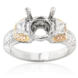 .88ct Simon G Diamond Antique Style Platinum & 18k Rose Gold Engagement Ring Setting