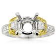 .73ct Simon G Diamond Antique Style Platinum & 18k Yellow Gold Engagement Ring Setting