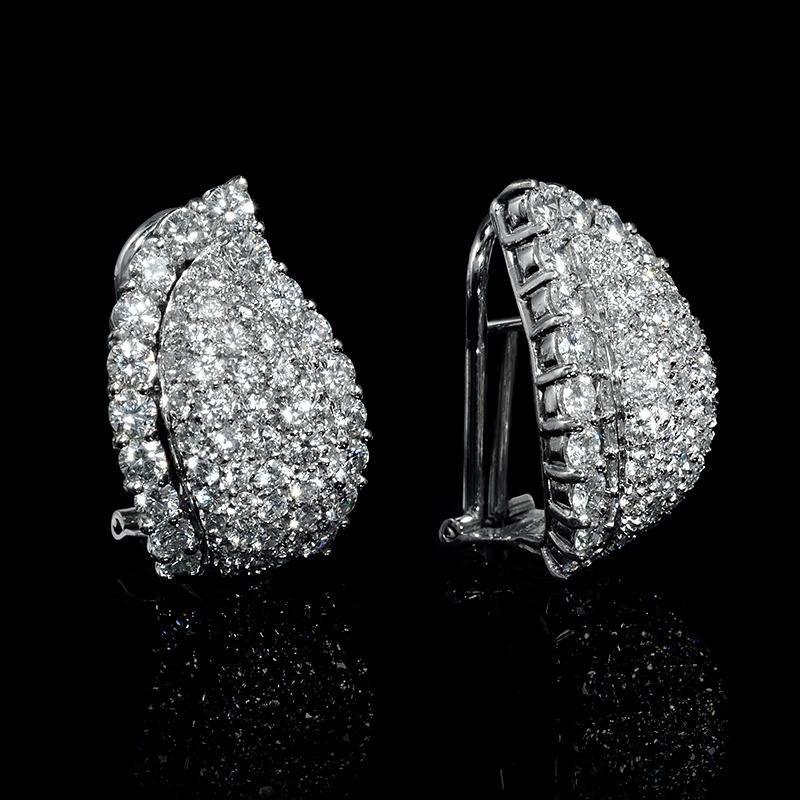 6 01ct Leo Pizzo Diamond 18k White Gold Earrings
