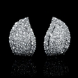 6.01ct Leo Pizzo Diamond 18k White Gold Earrings